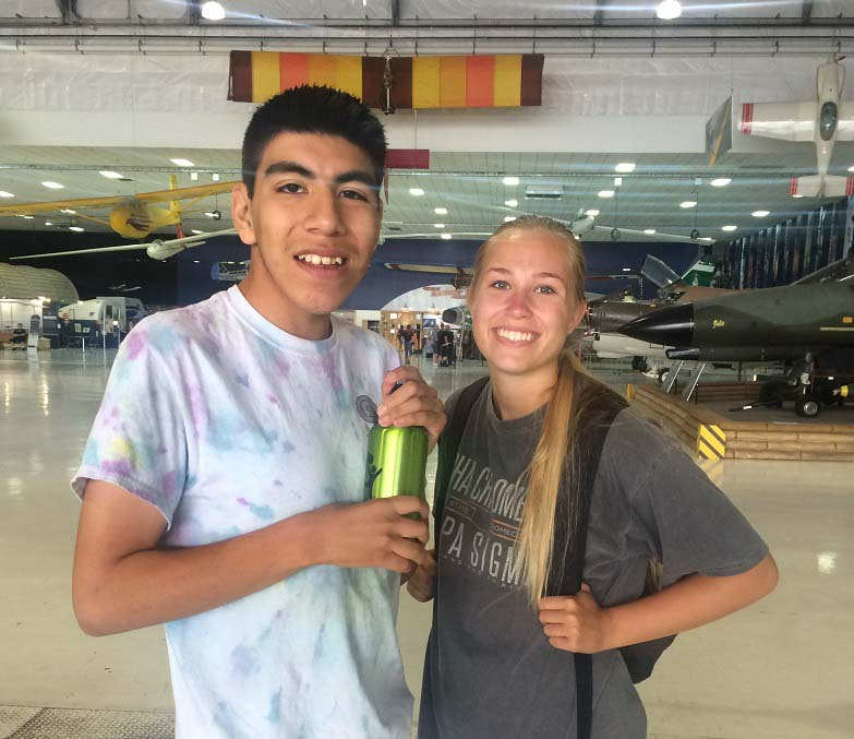 David & Kelsey at Airplane Museum